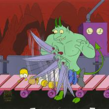 Simpsons Treehouse of Horror Production Cel - ID: septsimpsons20335 Fox
