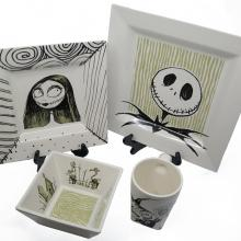 Disney Gallery Nightmare Before Christmas Plate Set - ID: aprdisneyland20135 Disneyana