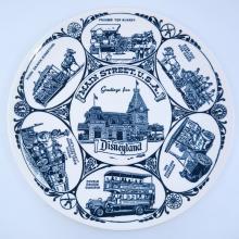 Disneyland Souvenir Blue Lands Plate - ID: aprdisneyland21342 Disneyana