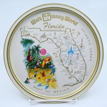 Walt Disney World Souvenir Metal Serving Tray - ID: aprdisneyland21350 Disneyana
