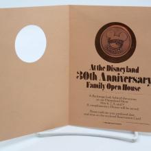 Disneyland 30th Anniversary Open House Invitation - ID: aprdisneyland21357 Disneyana