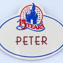 Walt Disney World Cast Member Name Tag - ID: aprdisneyland21380 Disneyana