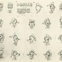 Donald Duck Photostat Model Sheet - ID: aprdonald21162 Walt Disney