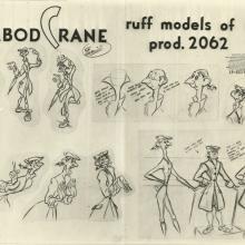 The Adventures of Ichabod and Mr. Toad Photostat Model Sheet - ID: aprichabod21157 Walt Disney