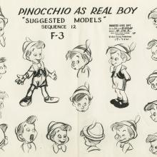 Pinocchio Photostat Model Sheet - ID: aprpinocchio21137 Walt Disney