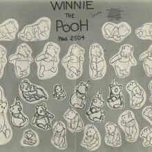 Winnie the Pooh Photostat Model Sheet - ID: aprpooh21138 Walt Disney