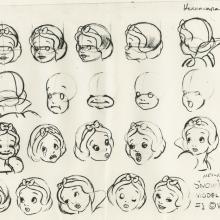 Snow White and the Seven Dwarfs Photostat Model Sheet - ID: aprsnowwhite21130 Walt Disney