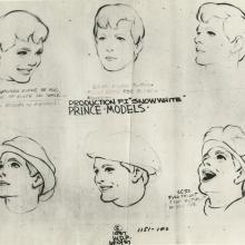 Snow White and the Seven Dwarfs Photostat Model Sheet - ID: aprsnowwhite21134 Walt Disney