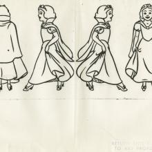 Snow White Photostat Model Sheet - ID: aprsnowwhite21176 Walt Disney