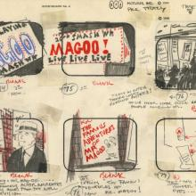Mr. Magoo's Dick Tracy & the Mob Storyboard Drawing - ID: augdicktracy21082 UPA