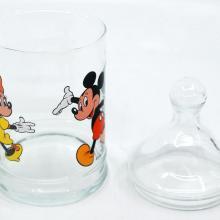 Mickey and Minnie Glass Candy Jar - ID: augdisneyana20056 Disneyana