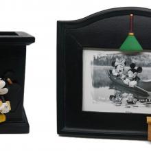 Mickey Mouse Desk Frame & Pencil Holder - ID: augdisneyana20064 Disneyana