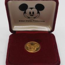 Walt Disney Productions Mickey Mouse Gold Coin   - ID: augdisneyana20071 Disneyana