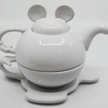 Mickey Tea for One Stackable White Tea Set - ID: augdisneyana20073 Disneyana