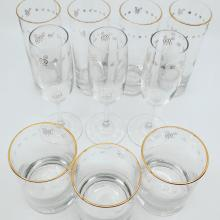 Gold-rimmed Mickey Mouse Drinkware Set - ID: augdisneyana20078 Disneyana
