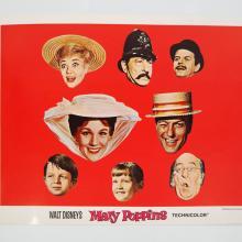 Mary Poppins Complete Set of 9 Lobby Cards - ID: augdisneyana20128 Walt Disney