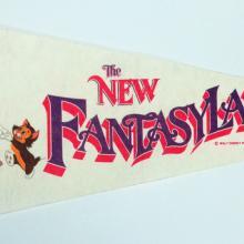 New Fantasyland Vintage Pennant - ID: augdisneyana20139 Disneyana