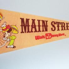 Main Street Walt Disney World Pennant - ID: augdisneyana20142 Disneyana