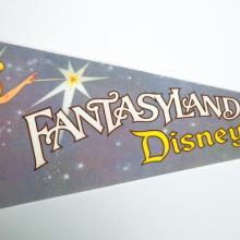 Vintage Fantasyland Pennant - ID: augdisneyana20145 Disneyana