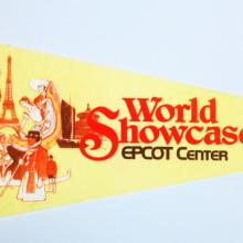 1982 World Showcase Epcot Center Pennant - ID: augdisneyana20149 Disneyana