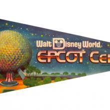 1982 WDW Spaceship Earth Epcot Center Pennant - ID: augdisneyana20151 Disneyana
