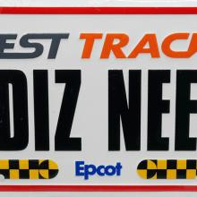 EPCOT Test Track  Vanity License Plate - ID: augdisneyana20164 Disneyana