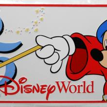 Walt Disney World 25th Anniversary Novelty License Plate - ID: augdisneyana20165 Disneyana