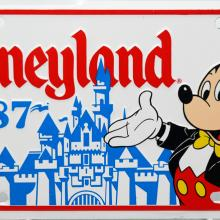 Disneyland 1987 Novelty License Plate - ID: augdisneyana20166 Disneyana