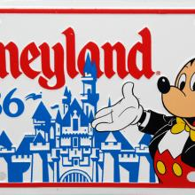 Disneyland 1986 Novelty License Plate - ID: augdisneyana20167 Disneyana