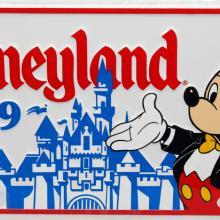 Disneyland 1989 Novelty License Plate - ID: augdisneyana20170 Disneyana