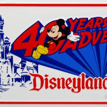 Disneyland 40 Years of Adventures Novelty License Plate - ID: augdisneyana20175 Disneyana