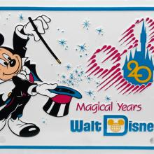 Walt Disney World 20 Magical Years Novelty License Plate - ID: augdisneyana20178 Disneyana