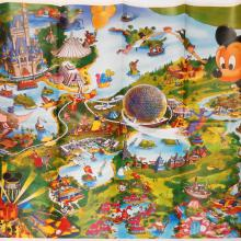 Walt Disney World 1992 Illustrated Resort Map - ID: augdisneyana20251 Disneyana