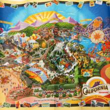 California Adventure Opening Day Map - ID: augdisneyana20253 Disneyana
