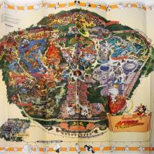 "Disneyland ""40 Years of Adventures"" 1995 Map - ID: augdisneyana20259 Disneyana"