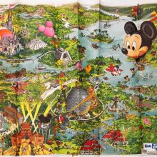 Walt Disney World 1990 Illustrated Resort Map - ID: augdisneyana20261 Disneyana