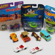 Collection of (9) Animated TV Show Toy Cars - ID: augdisneyana20502 Pop Culture