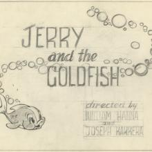Jerry and the Goldfish Title Layout Drawing - ID: augmgm020 MGM