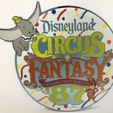 Circus Fantasy '87 Lamppost Sign - ID: juldisneyana21092 Disneyana