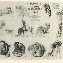 Dumbo Photostat Model Sheet - ID: juldumbo21272 Walt Disney