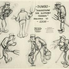Dumbo Photostat Model Sheet - ID: juldumbo21277 Walt Disney