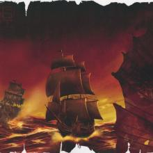 """""""Pirates of the Caribbean"""" Ships Limited Release Lithograph - ID: julpirates21096 Disneyana"""