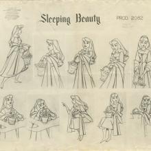 Sleeping Beauty Photostat Model Sheet  - ID: julybeauty20227 Walt Disney