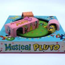 1966 Musical Pluto Tin Litho Toy - ID: julydisneyana21022 Disneyana