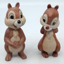 Chip 'n Dale 1970s Ceramic Figures - ID: jundisneyana20212 Disneyana