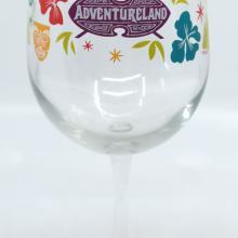 Tiki Room Adventureland Wine Glass - ID: jundisneyana20221 Disneyana
