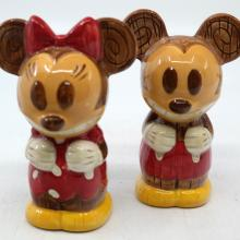 Mickey and Minnie Mouse Tiki Salt and Pepper Shakers - ID: jundisneyana20243 Disneyana