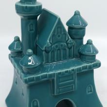 Fantasyland Castle Blue Ceramic Figurine - ID: jundisneyana20263 Disneyana