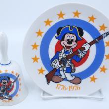 Bicentennial Mickey Plate and Bell by Schmid - ID: jundisneyana21304 Disneyana