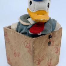 1940s Donald Duck Jack-in-the-Box - ID: jundisneyana21339 Disneyana